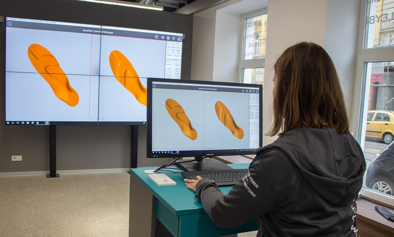 CAD Herstellung Sensomotorische Aktivsohlen